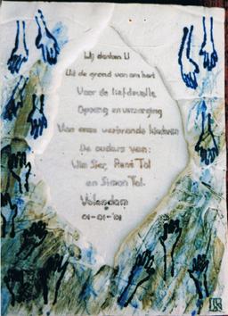 Herdenkingstegel  2001